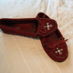 Minnetonka Moccasins, beautiful deep red color